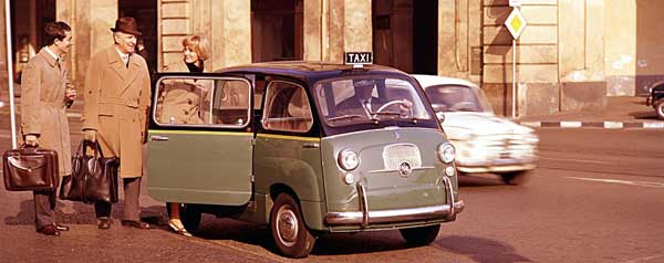 Multipla was used as Taxis right up until 1970s