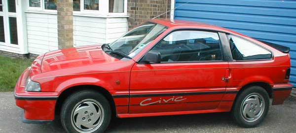 The Honda CR-X in Red