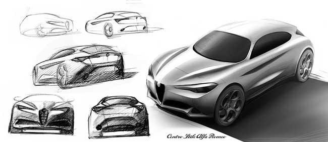 Alfa Romeo Stelvio sketch