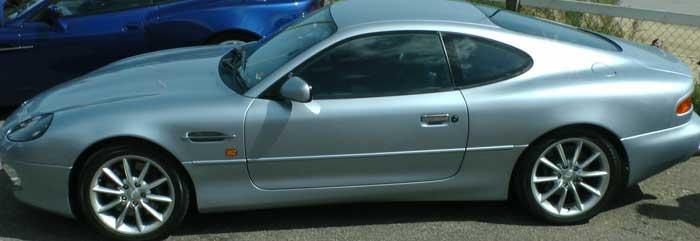 Silver Aston Martin DB7