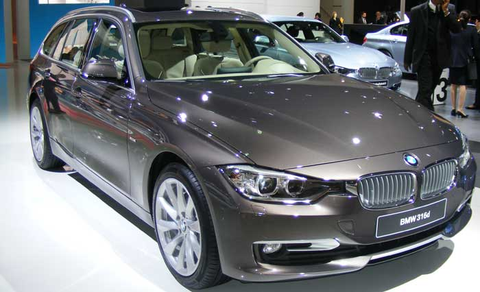 TYpical BMW For Lease In Showroom