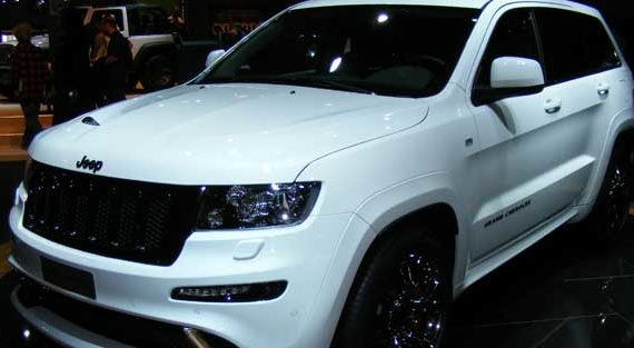 White Jeep Paris Motor Show 2012