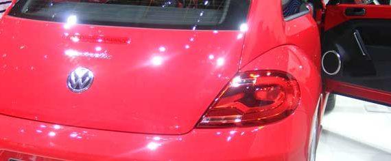 Rear View New Volkswagen Beetle Red
